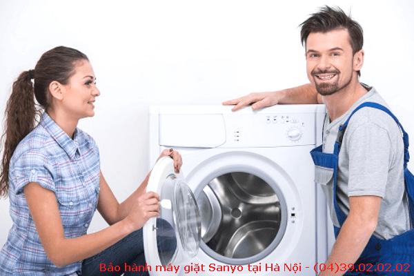 bảo hành máy giặt sanyo tại hà nội
