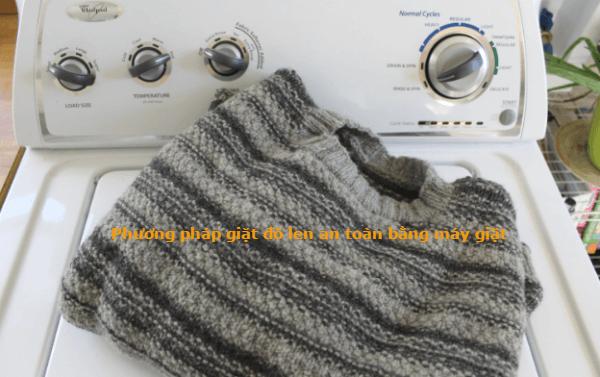 phương pháp giặt áo len an toàn bằng máy giặt