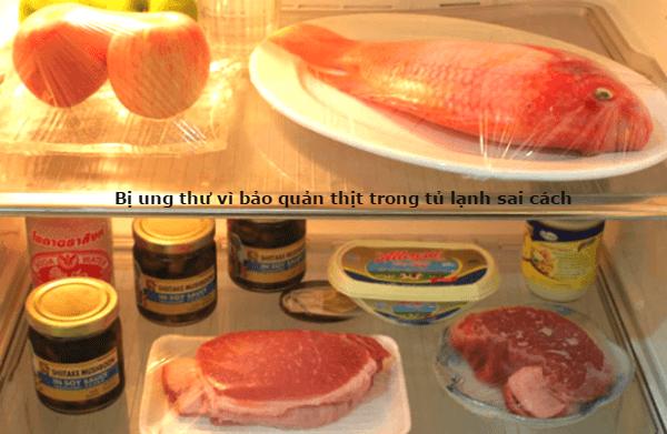 bị ung thư từ thịt để tủ lạnh sai cách