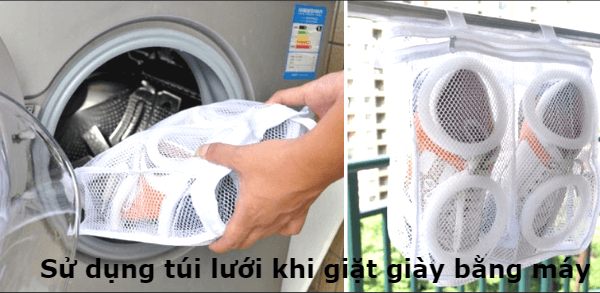 Giặt giày an toàn bằng máy giặt
