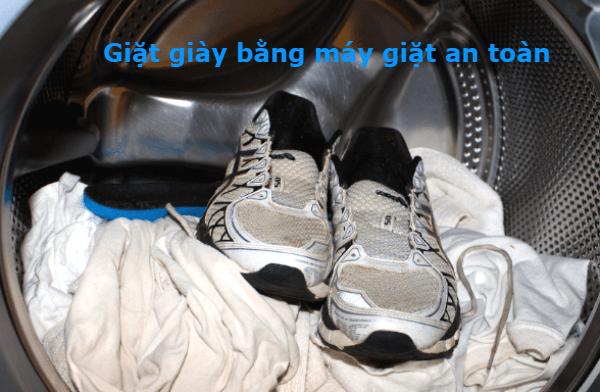 giặt giày bằng máy giặt có được không