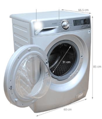 kích thước máy giặt 10kg