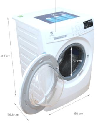 kích thước máy giặt cửa ngang 7.5kg