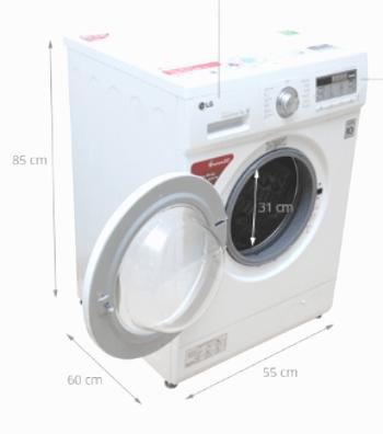 kích thước máy giặt cửa ngang 8.5kg