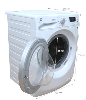 kích thước máy giặt cửa ngang 9kg