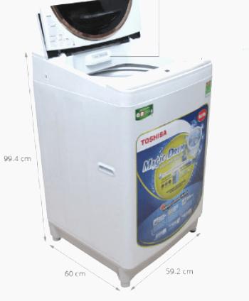 kích thước máy giặt cửa trên 10.5kg