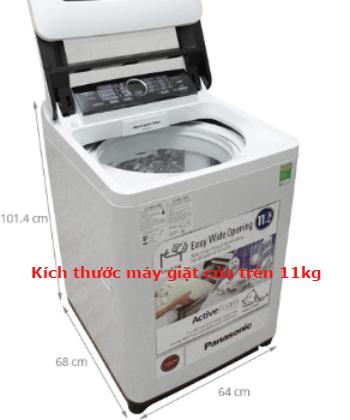 kích thước máy giặt cửa trên 11kg