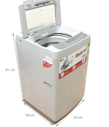kích thước máy giặt cửa trên 8kg