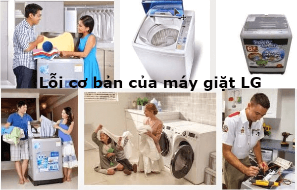 lỗi cơ bản máy giặt lg