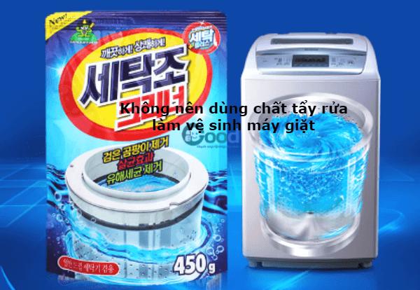 mẹo vệ sinh máy giặt an toàn