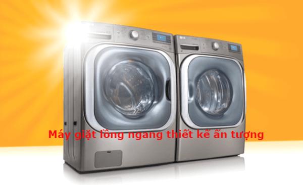 ưu điểm của máy giặt lồng ngang