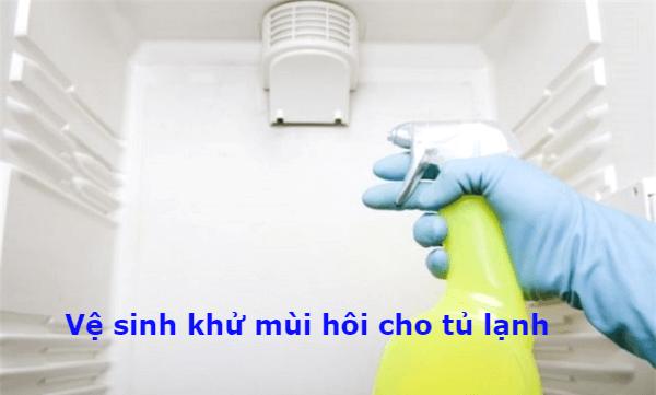 vệ sinh khử mùi tủ lạnh