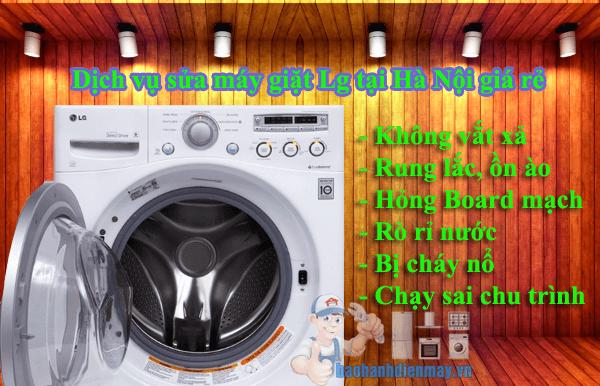 Dịch vụ sửa máy giặt Lg tại Hà Nội giá rẻ