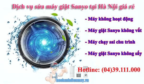 Dịch vụ sửa máy giặt Sanyo tại Hà Nội giá rẻ