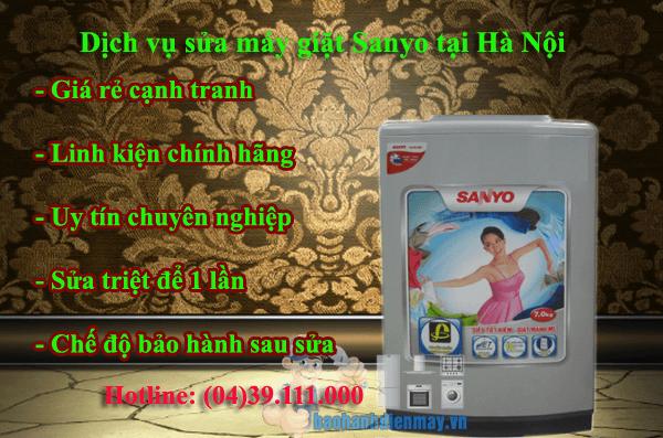 Dịch vụ sửa máy giặt Sanyo tại Hà Nội