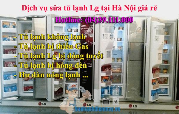 Dịch vụ sửa tủ lạnh Lg tại Hà Nội giá rẻ