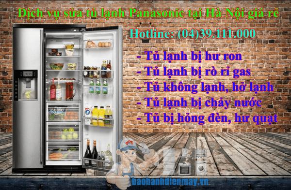 Dịch vụ sửa tủ lạnh Panasonic tại Hà Nội giá rẻ