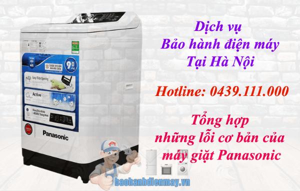 Lỗi cơ bản máy giặt Panasonic