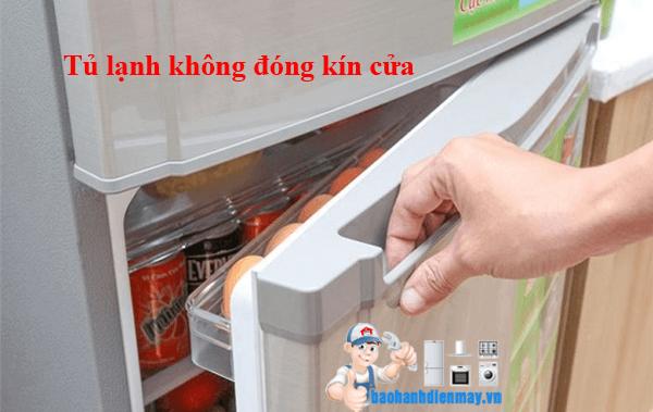 Tủ lạnh không đóng kín cửa