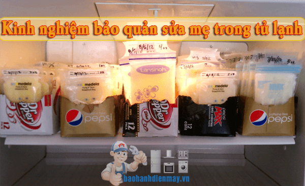 Bảo quản sữa mẹ trong tủ lạnh