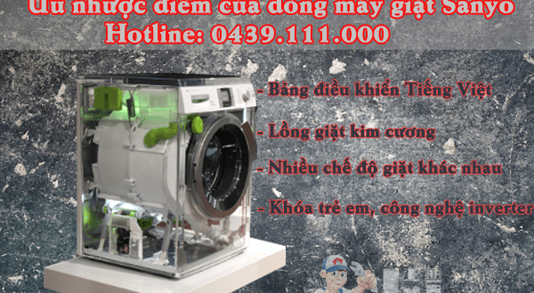 Ưu nhược điểm của dòng máy giặt Sanyo