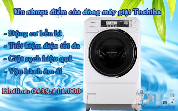 Ưu nhược điểm của máy giặt Toshiba