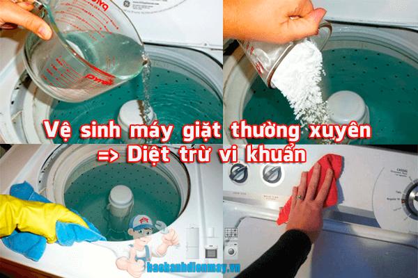 Vệ sinh máy giặt diệt trừ vi khuẩn