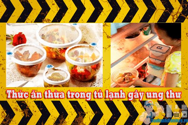 Ăn thức ăn thừa trong tủ lạnh bị ung thư